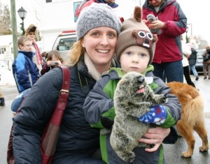 Groundhog fun at last year's parade.