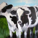 Two cows by Pam Carlson