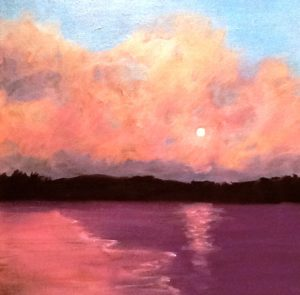 'A Day of Warmth' by Pam Carlson is one of the signature paintings of the exhibition.