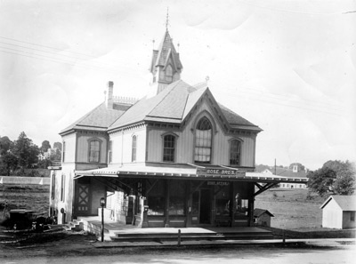 Rose Brother's Store and village gathering spot, as it was almost a century ago