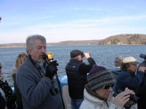 Boat Tour Moderator Bill Yule at the mike