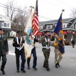 Leading the parade was Color Guard, which received respectful applause as the parade began