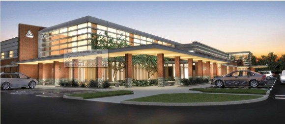 Artist rendering of finished Shoreline Emergency Medical Center in Westbrook