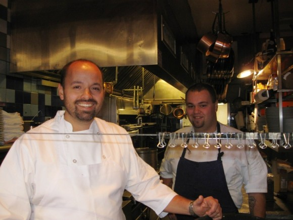 River Tavern's Chefs, Chris Flahaven and Stefan Burcyuski