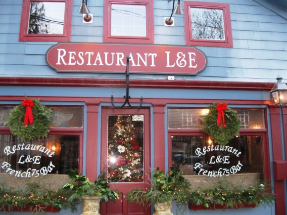 Exterior of L & E restaurant on Main Street