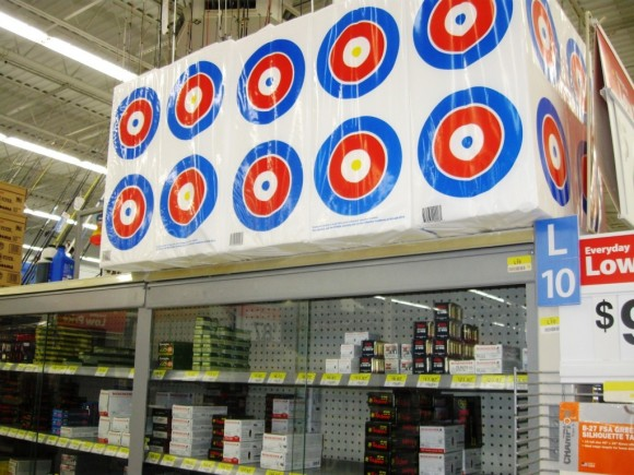 Gun practice targets also on sale