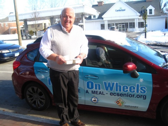 "Deep River's very own First Selectman, Richard Smith joined the ""Share the Love""  Meals on Wheels Holiday Campaign by personally delivering a meal"