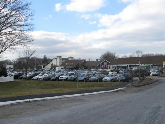 The rear of the lots, where AMTRAK parking is located