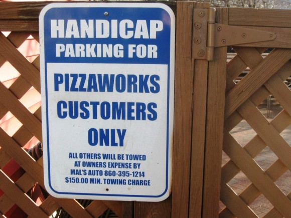 Even handicap parkers must be eating in the restaurant
