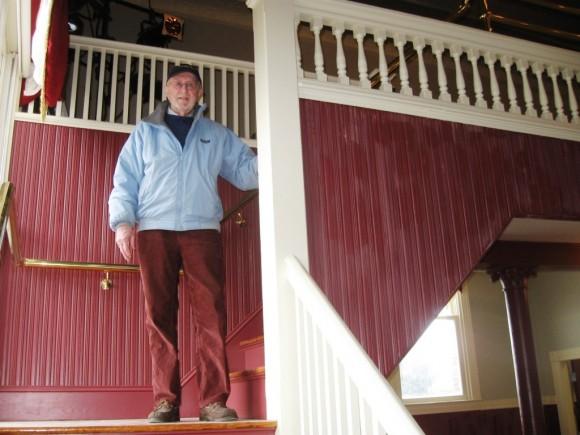 Former Deep River Selectman Art Thompson supervising the improvements