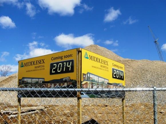 Billboards Promise New Shoreline Medical Center in Westbrook next year