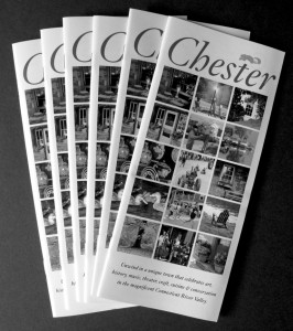 The Chester Brochure  is being updated and printed this summer by the Chester Merchants.