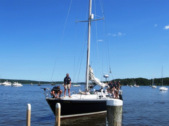 The Daring, a 44 foot sailboat coming into Essex