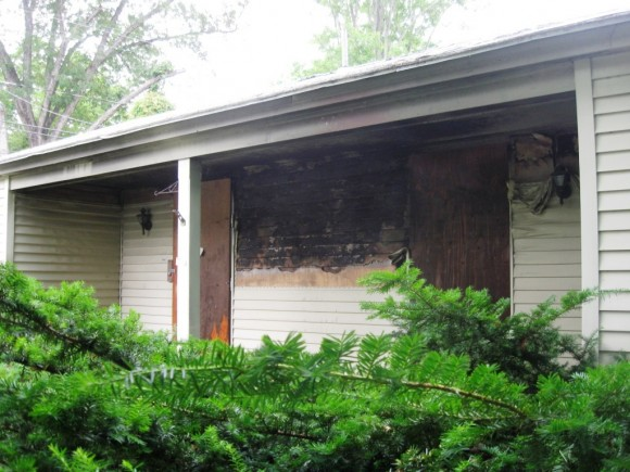 "The Essex ""slum house"" has considerable fire damage."