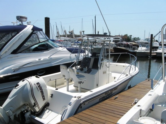 Westbrook Marine Center's 20 foot Hydra-Sport Vector motor boat for rent