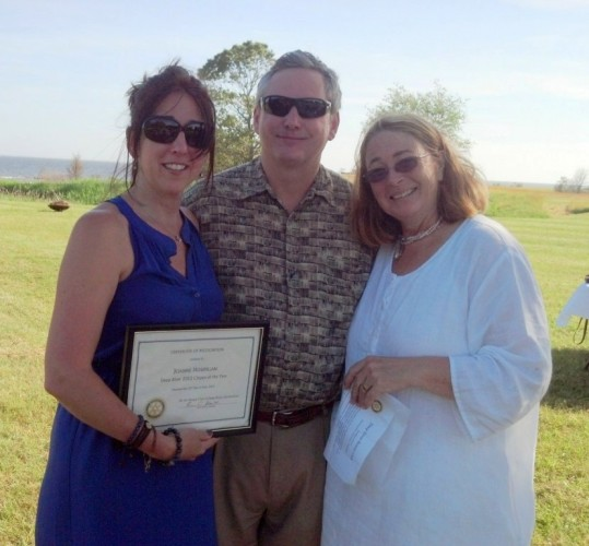 Deep River Citizen of the Year Joanne Hourigan (left) with Kevin Brewer and Phyllis Haut.