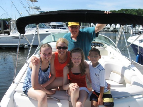 Happy family from Old Lyme pay a call