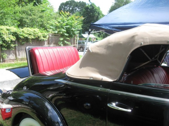 Rubble seat of 1937 Cadillac Coupe