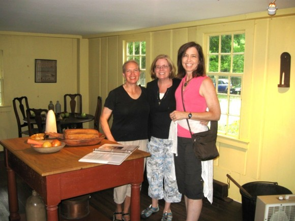 Pratt House visitors, Ann Good, Oakland, CA; Patti Klaje, Hamden, CT; and Kristen Pallord, Houston, TX