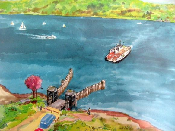 Ferryboat inside photo