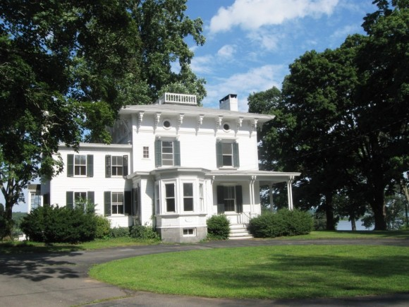 The Croft Mansion, the center piece of the new development on Foxboro Point