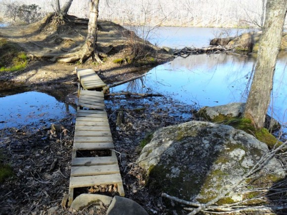 The old Red Trail bridge to Berry-Berry Island