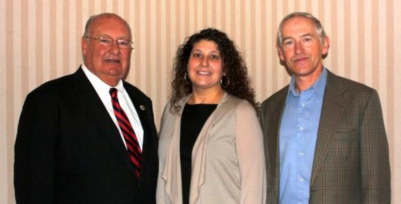 (l-r) Herb Clark, CMS Champion; Robin Andreoli, CMS executive director; Tom Briggs, CMS music director. Photo Credit Joan Levy Hepburn.