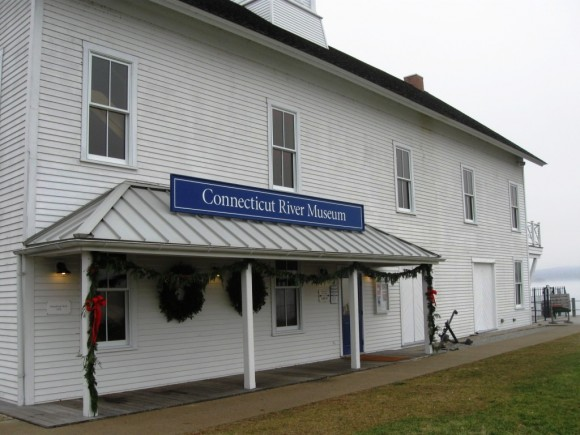 The unadorned entrance of the Connecticut River Museum