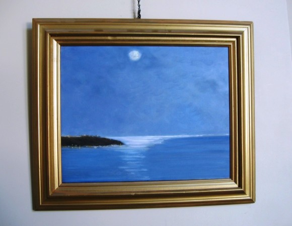 New England moonlight from painter's imagination
