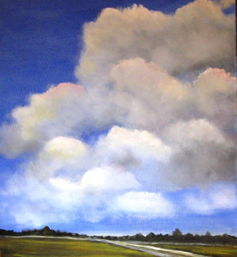 Clouds over a New England landscape