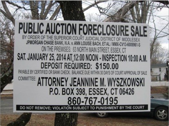 Sign presently on the property at 63 North Main Street