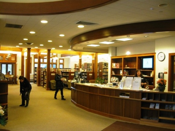 The interior of the Essex Library, where four of the library's five book club are held. The fifth book is held at Essex Meadows.