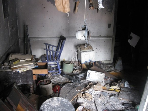 Present condition of the interior of 63 North Main Street in Essex