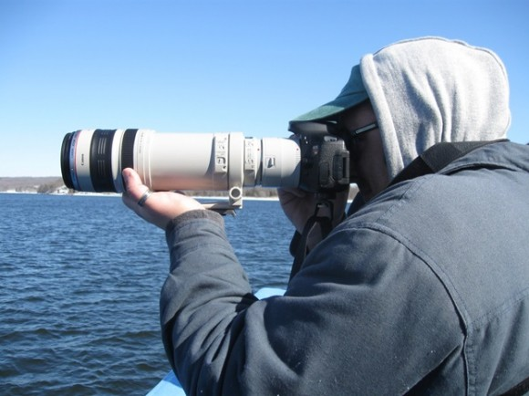 High tech cameras are used by some to take photos of the bald eagles
