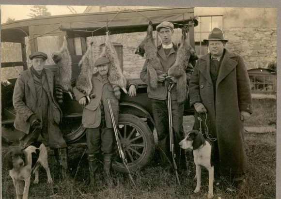 Hunting filled an important need for food, especially during the Depression. Shown here are four Chester men who were known for their hunting skills:  Fred Walden, Layton Kelsey, Curt Bishop and Eddie Carlson.