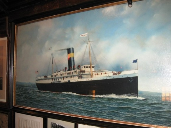 Portrait of late model steamboat by noted marine artist Antonio Jacobson