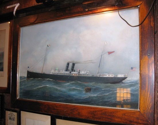 Original portrait of a steamboat by Jacobson at Griswold Inn