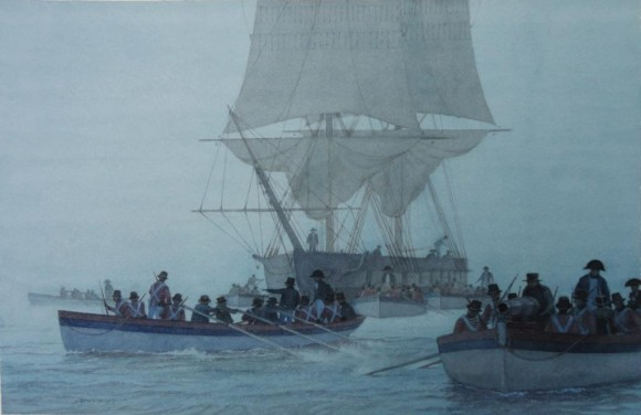 Departure, by Victor Mays, Connecticut River Museum collection.