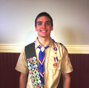 Chester/Deep River Boy Scout Troop 13 newest Eagle Scout Dillon Eriksson (Photo  Lianne Rutty).