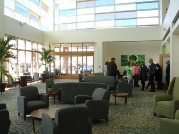 Interior of waiting area of the Outpatient Center