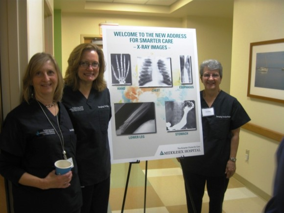 Laurel Patt, Director, Radiology Services; Paula Howley, radiologic technologist; and Kim Carey, radiologic technologist