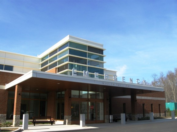 Exterior of new Emergency Whelen Pavilion in Westbrook
