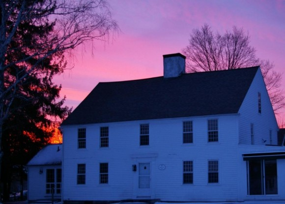 The historic Samuel Lay House is the venue for Evening at the Lay House: 1814 Tavern. The beautiful home is now part of the Connecticut River Museum campus and overlooks the River. Photo by Bill Yule, Connecticut River Museum