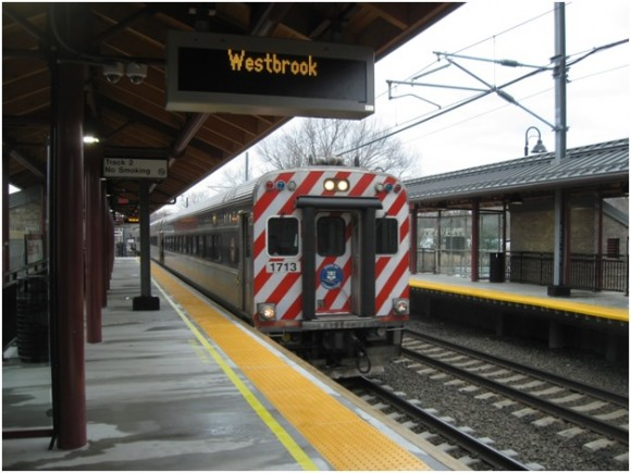 """Train Approaching"" at Westbrook rail station"