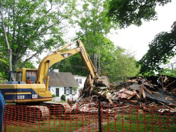 The pile of debris gets larger