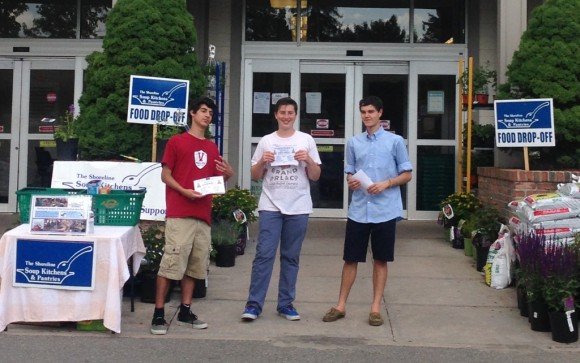 Valley Regional High School 10th grade students (l-r) Sam Armenia, Alex Tiezzi and Ben Toles.