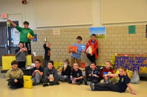 Members of the Essex Cub Scouts, Pack 4.
