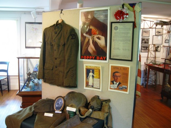 Uniform of World War I Sergeant Harry Mavin, who war the first Commander of American Legion Post 61 in Deep River