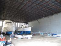 Boat storage at the marina (Photo J.J. Manning, Auctioneers)