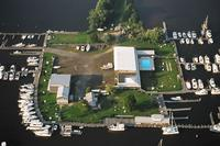 A bird's eye view of the Essex Island Marina